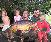Carp angling is a great pleasure with my family