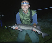 Sturgeon caught with monster crab boillie