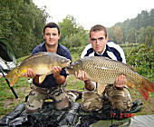 Common and mirror carps - 23.1 Lbs and 17.6 Lbs