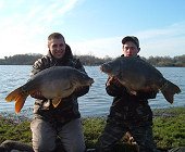 Two mirror carps - 19.8 Lbs